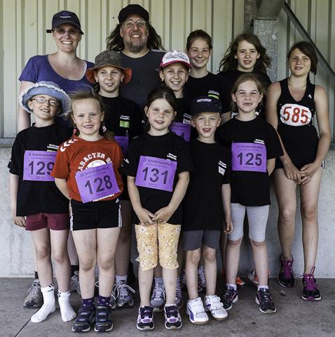 Die Pfungstädter Schüler beim Sportfest der LAZ Bruchköbel
